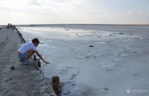 Геническое соленое озеро