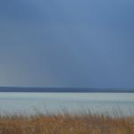 Соленое озеро светится...